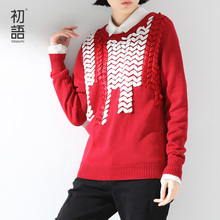 Toyouth Autumn New Arrival Women Pullover Sweaters O-Neck Loose Long-Sleeve Knitted Female Red Casual Sweaters