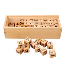 Montessori Language Material Movable Letters Cube Box Educational Learning Toys For 3 Years Olds Juguetes Montessori