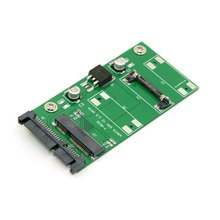 50pcs/lots 50mm 3.3v mSATA SSD to 2.5″ SATA 22pin Adapter PCBA for MINI PCI-E Hard Disk, By UPS