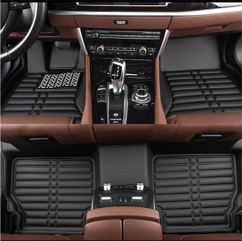 Auto Floor Mats For Ssangyong Rexton W II 2008-2017 Foot Carpets Car Step Mat High Quality Water Proof Clean Solid Color Mats car rear trunk security shield cargo cover for ssangyong rexton ii w 2008 2017 high qualit black beige auto accessories
