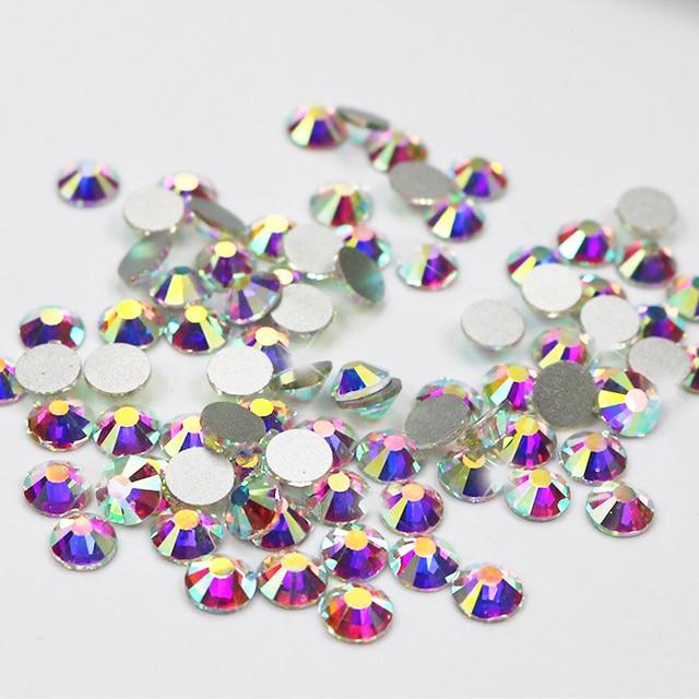 All size Non Hot Fix Rhinestones Crystal AB Glass Stones Machine Cut  Flatback Strass For Nail Art 2d8d6cd6930d