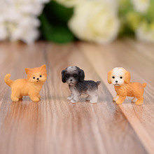 Home Decoration Accessories Miniature Figurines Desk Farmhouse Decor Living Room Bedroom Dog Plastic Resin