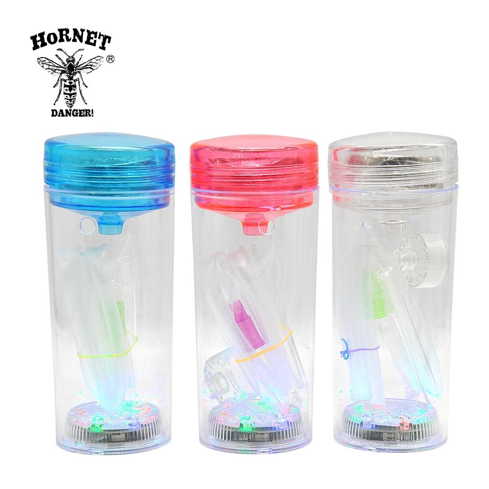 חדש מגיע ניידים נרגילה נרגילות בקבוק פלסטיק עם אור LED צינור סיליקון Nargile עישון נרגילה narguile. צבע אקראי