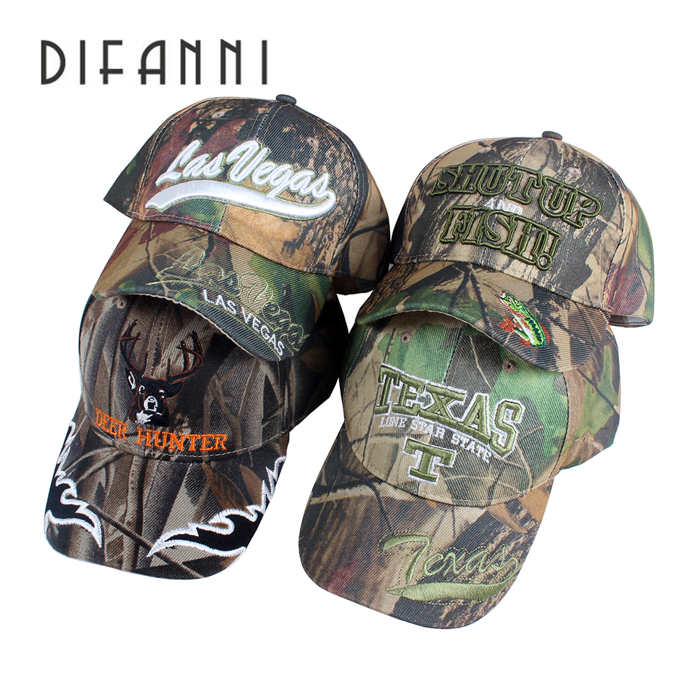 [DIFANNI]Outdoor cap snapback best cool novelty hat women embroidery skull Camouflage style Hunting Fishing Baseball cap gorras summer outdoor sunscreen camouflage pattern jungle hunting baseball hat