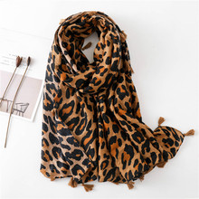 coffee Leopard Printed Scarf Women Winter Blanket Scarf Warm cotton blend Thicken Shawls Scarves for Women Lady Christmas gift morden style elastic slimming warm thicken cotton blend checked winters leggings for women