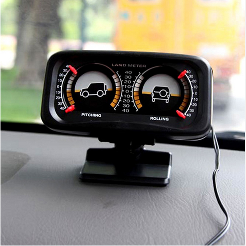 New! Car Auto Compass Balance Meter Slope Indicator Land Meter with ...