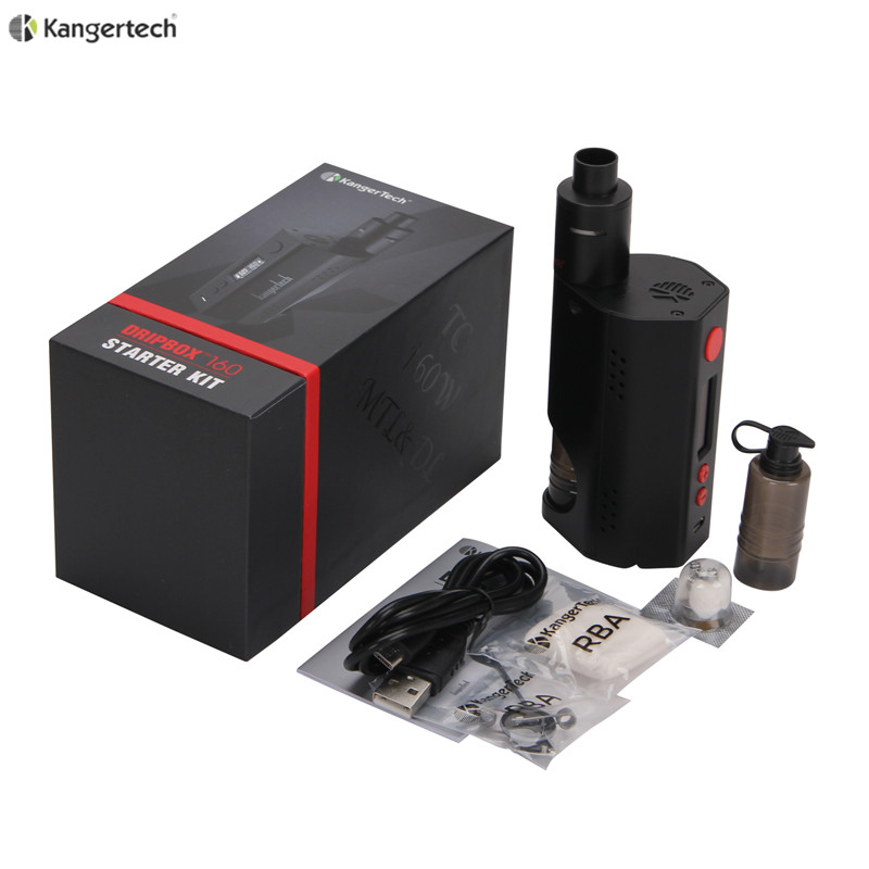 100% Original Kanger Dripbox 160 Starter Kit with 7ml Capacity Subdrip RDA Atomizer and TC 160W Dripmod 160 original kanger dripbox tc 160w mod kit