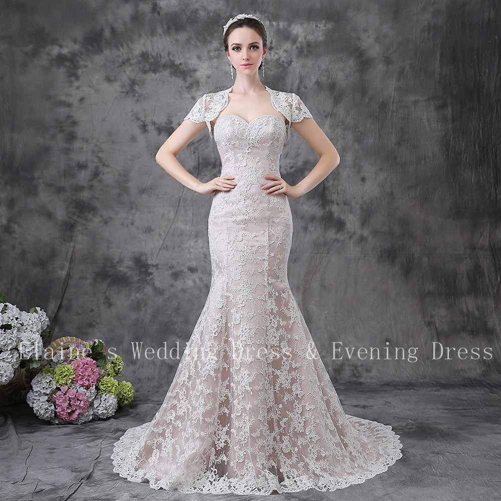 Buy 2017 new arrival sexy open back for Champagne colored wedding dresses with sleeves