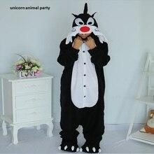 Unisex Animal Minions Black Wolf Pajama Cosplay Costume Adult Onesie Women Men's Pajamas Sleepwear Party Sleepsuit pajama party