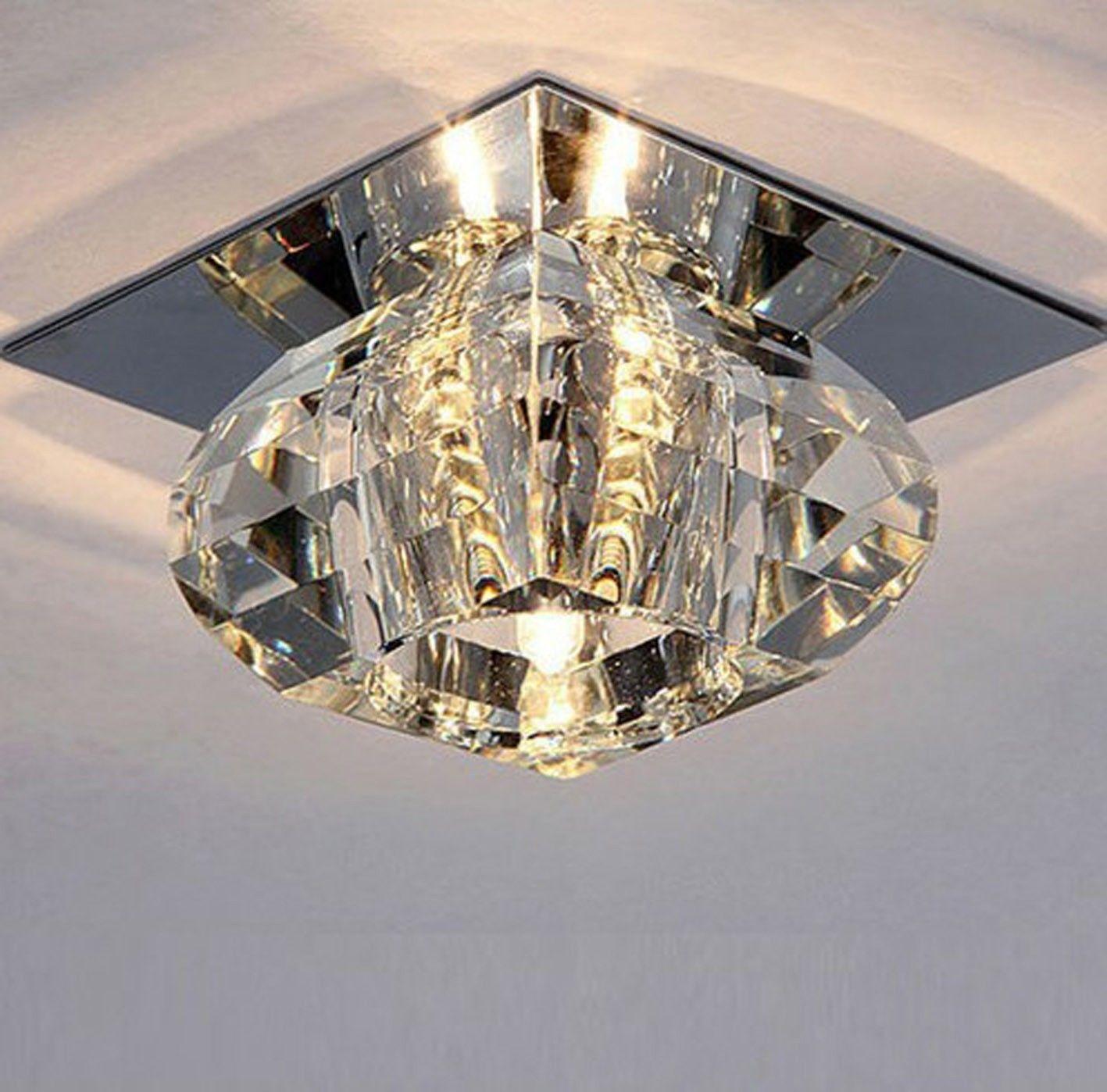 Modern LED Bulb Ceiling Light Pendant Lighting Fixture Crystal Chandelier