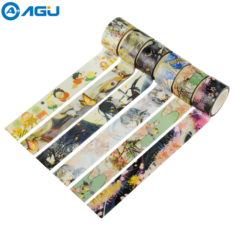 AAGU 1PC 20mm*5m Cute Holy Potter Wide Washi Tape 21 Patterns Selective Decorative Masking Tape Office Supply DIY Adhesive Tape aagu new arrival 15mm 5m 20pcs lot pineapple flamingo watermelon washi tape adhesive masking tape diy decorative paper tape