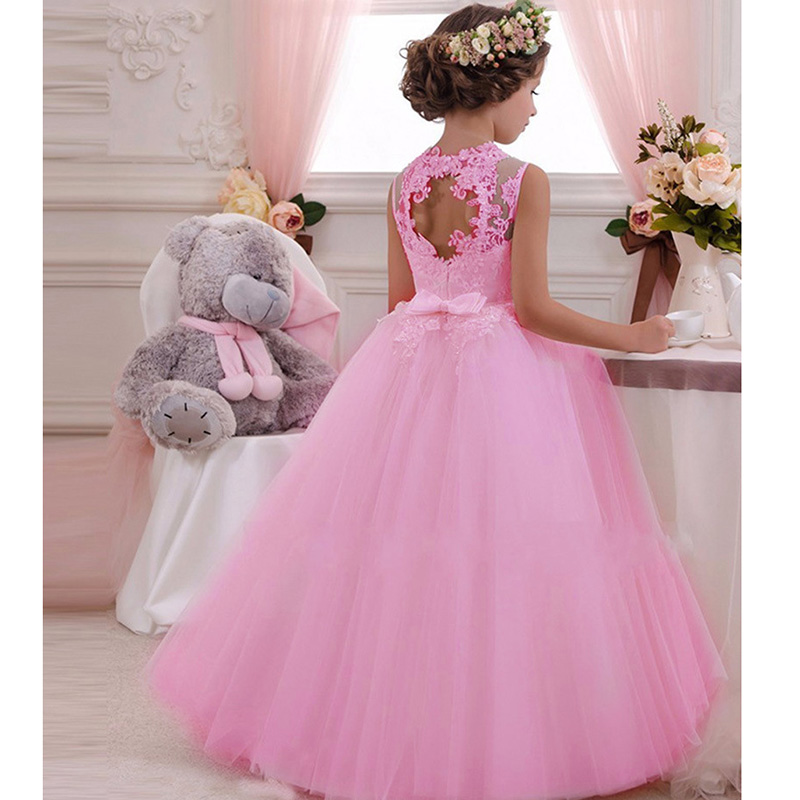 Girls-Evening-Party-Dress-2019-Summer-Kids-Dresses-For-Girls-Children-Carnival-Costume-Princess-Dress-Flower