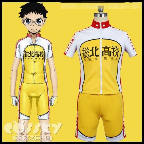 Anime Yowamushi Pedal Cosplay ride costume Onoda sakamichi Makishima Race Suit Free Shipping D