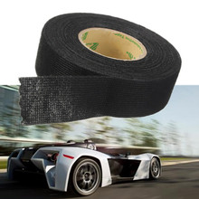 MTGATHER Black 25mmx10m Tesa Coroplast Adhesive Cloth Tape For Cable Harness Wiring Loom  Car Wire Harness Tape