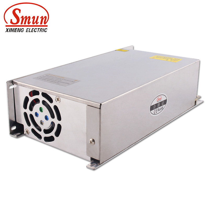 SMUN S-600-48 110V/220VAC to 600W 48VDC 12.5A Single Output AC-DC Switching Power Supply Unit SMUN S-600-48 110V/220VAC to 600W 48VDC 12.5A Single Output AC-DC Switching Power Supply Unit