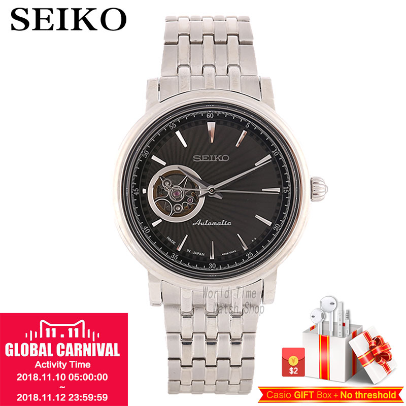 SEIKO Watch Presage Men'S Strap Business Waterproof Automatic Mechanical Watch SSA039J1 SSA018J1 SSA089J1 SSA090J1 SSA015J1 цена и фото