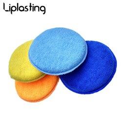 Liplasting Micro Fiber Waxes Sponge Rubbing Sponge Polishing Small Round Shaped Micro Fiber Sponge Car Cleaning WashingTool