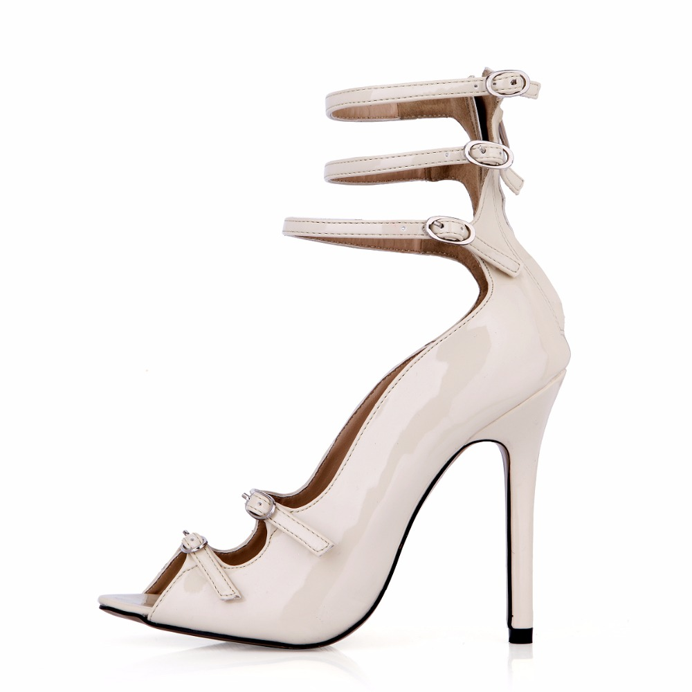 New Summer Peep Toe High Heels Buckle Sexy Open Toe Ladies Shoes Zipper Women Pumps Stiletto Heel High Heel Gladiator Cool Boots fashion women pumps gladiator peep toe women high heels shoes women casual thin heel buckle strap summer high heel pumps