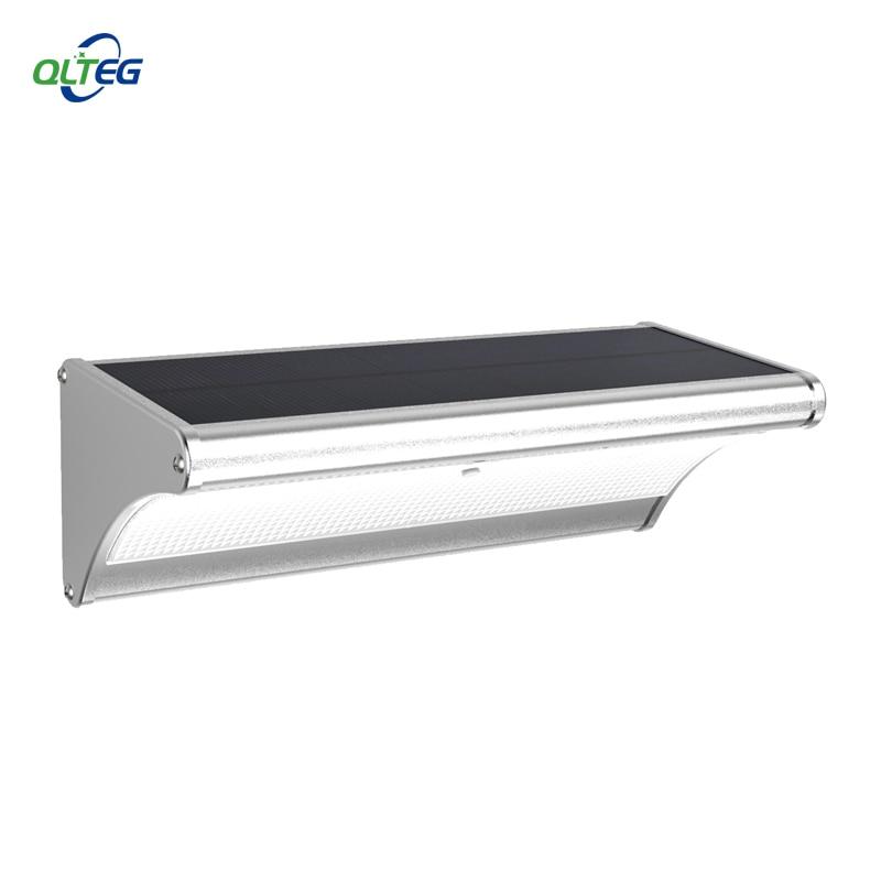QLTEG Super Bright Motion Sensor LED Solar Light 1000LM Highlight Waterproof Garden Wall Security Lamp by Microwave Radar Motion