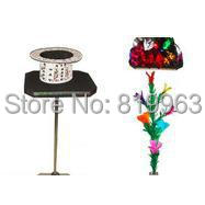 Table To Feather Flower And Mylar Flower/Shaun Flower Table - Magic Trick,Stage Magic,Close Up magic ,Floating Magic,Accessories regeneration tulip animate tulip stage flower magic trick magic trick classic toys
