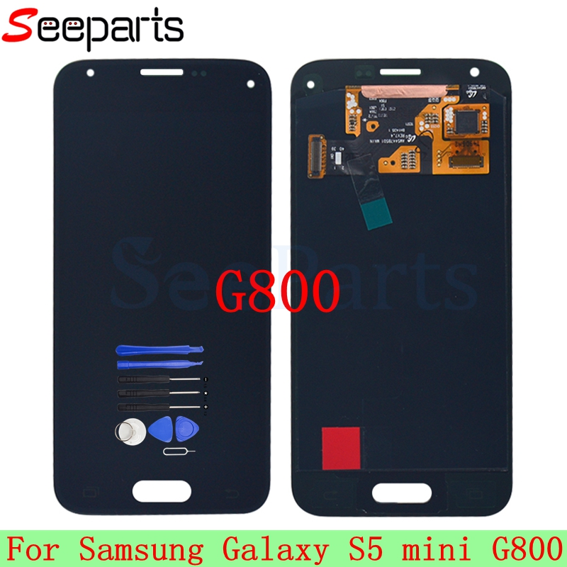 100% Tested Super AMOLED For <font><b>SAMSUNG</b></font> S5 Mini G800 LCD <font><b>Display</b></font> for <font><b>Samsung</b></font> <font><b>G800F</b></font> S5 MINI LCD Screen Touch Digitizer Assembly image