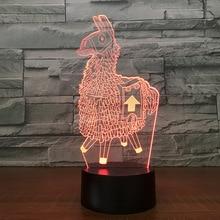 Fortnite сувенир 7 цветов Touch стол свет 3D светодиодный лава лампа акриловый Иллюзия атмосферу комнаты освещения для поклонников игры