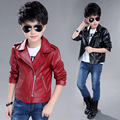 NEW ! Toddler Leather Jacket 2016 New Brand Spring Baby Boys Leather Jacket PU Coat High Quality 5-14 Years