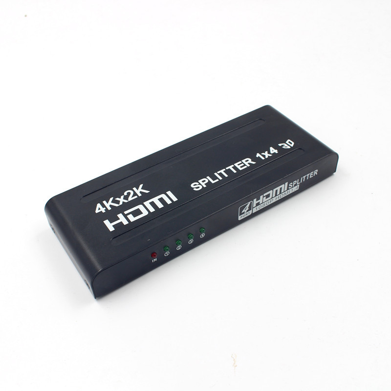 4 Ports HUB HDMI Splitter 1x4 3D 4K HD 1080P Amplifier Switcher Power Supply For HDTV