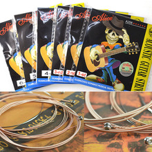 купить 1 pc Alice Acoustic Guitar Strings 1st/2nd/3rd/4th/5th/6th High Quality 1 Piece Guitar Parts Accessory Strings дешево