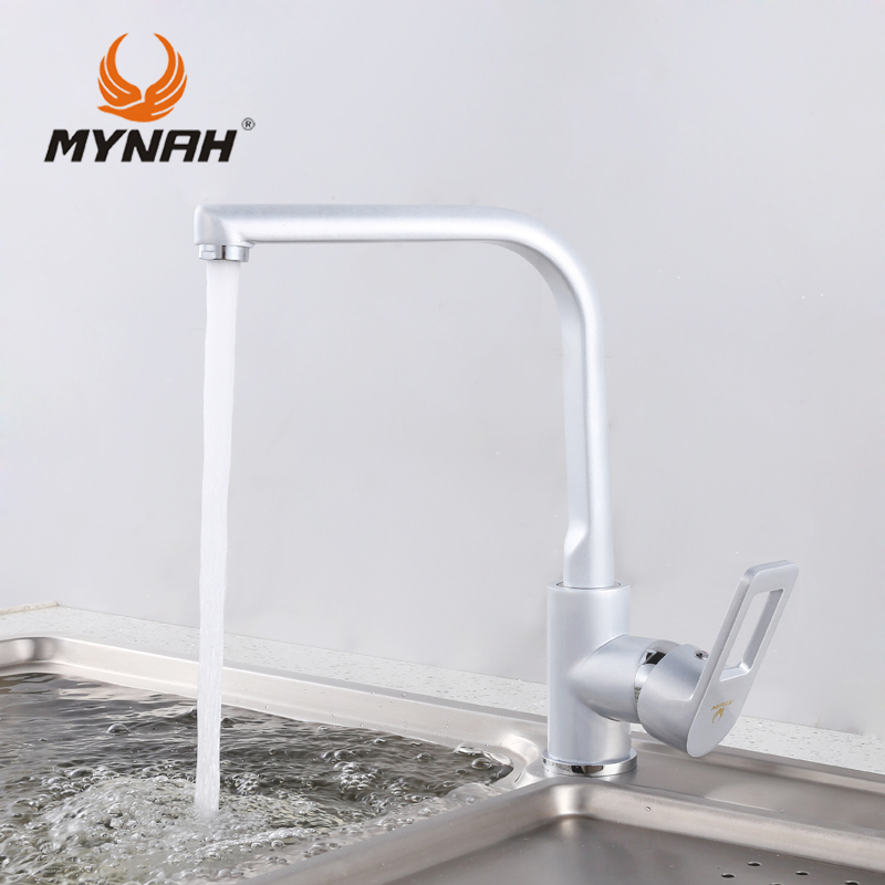 MYNAH Russia free shipping 2017 New Faucets tap Modern Water Power Kitchen Faucet Swivel Spout Kitchen Vessel Sink Tap M5406H