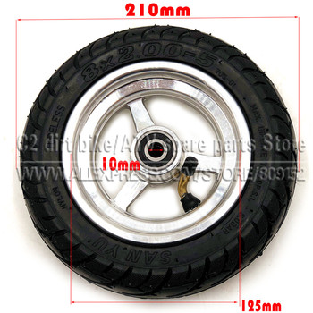 8x2.00-5 Tubeless Tire Wheel Tyre 8X2.00-5 wheel hub For Kugoo S1 S2 S3 C3 MINI Electric BIKE электросамокат kugoo s3 pro blue влагозащита