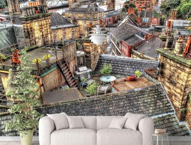 Italienische Tapeten luxus hintergrund tapeten benutzerdefinierte 3d wandbild tapete