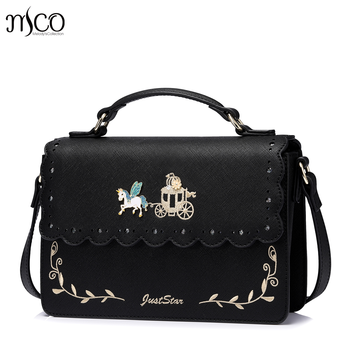 Brand Pumpkin Cart  Fairy Tales Purse Crossbody Shoulder Women Bag Clutch Female Handbags Sac a Main Femme De Marque Girls english fairy tales