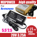 MDPOWER For Lenovo IdeaPad G455 20V 3.25A laptop power AC adapter charger cord