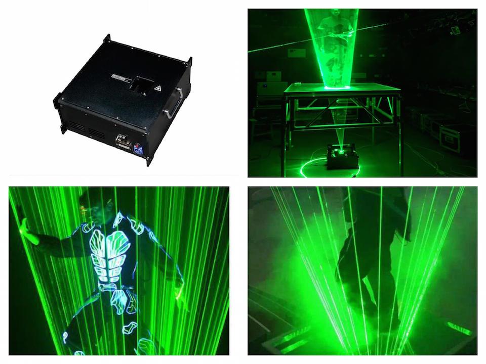 Flightcase+Laser Man Show Green 2w 3w 5w 8w Laser Beam System Laser Dance Light Disco Dj Club Party Concert Wedding Bar System