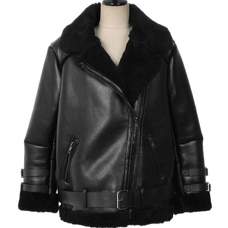 Здесь продается  Winter Leather Plus Velvet Thicken Women Solid Color Jacket Short Korean Loose Warm Locomotive PU Leather Jacket Jaqueta MZ1840  Одежда и аксессуары