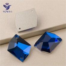 YANRUO 3265 todos los tamaños Capri Blue Cosmic cosido en espalda piedras y cristales de Strass para vestidos de noche