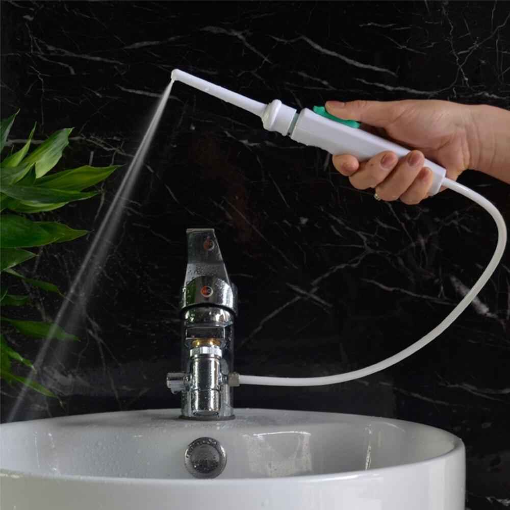 купить 6 Tips Faucet Oral Irrigator Portable Water Dental Flosser Mouth Wash Water Pick Jet Dental Irrigator For Teeth Cleaning по цене 1460.59 рублей