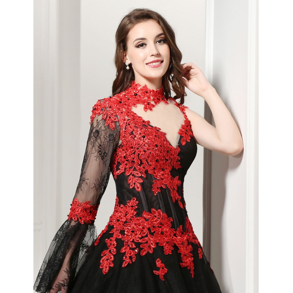 Red masquerade dress images galleries for Red and black wedding dresses