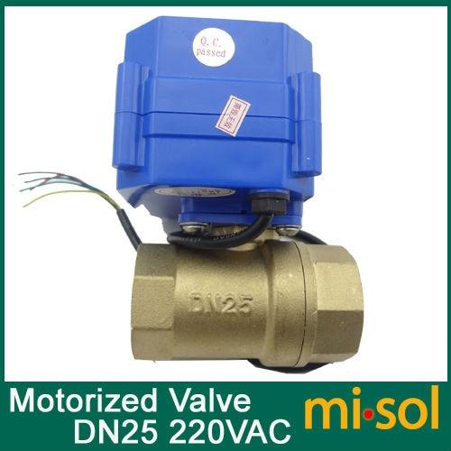 1pcs motorized ball Ventil valve,220v,2 way,DN25 (reduce port),electrical valve, motorized valve стоимость