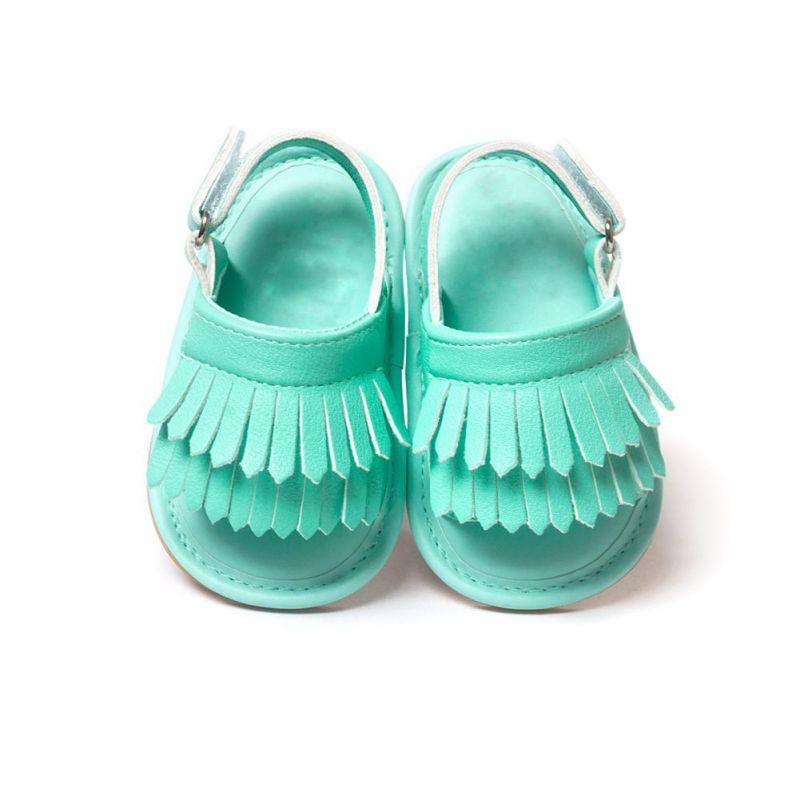 Verano Nuevos niños PU Zapatos de borla Sandalias de bebé Ocio Moda Bebés Sandalias