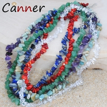 CANNER Bohemian Natural Stone Necklace Statement Beads Boho Choker Women collares de moda 2019 FI