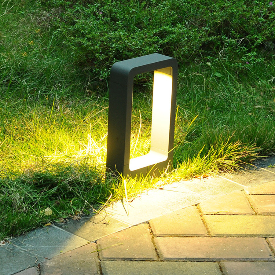 Image 5 - Thrisdar 10W LED Garden Pillar Lawn Light Villa Park Stand Post Lawn Lamps Outdoor Landscape Pathway Patio Lawn Bollard Light-in Lawn Lamps from Lights & Lighting
