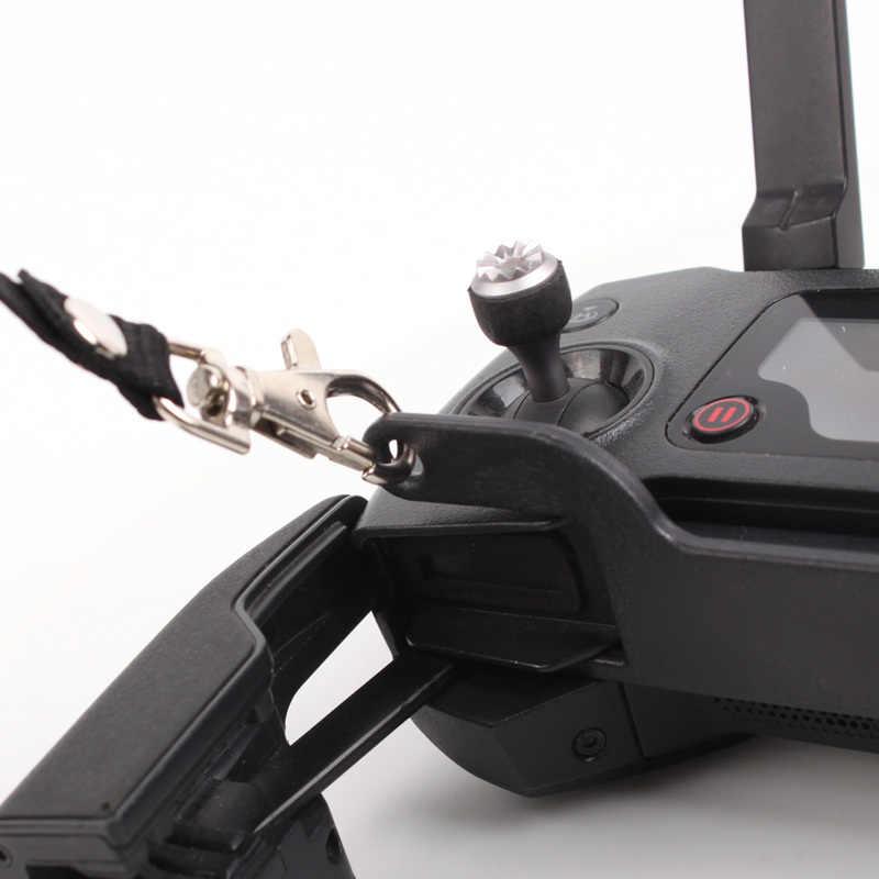 جهاز تحكم عن بعد صغير من Mavic Air Mavic مزود بمشبك مزدوج حامل تثبيت + شريط رقبة RC مناسب لـ DJI Spark Mavic Pro البلاتين