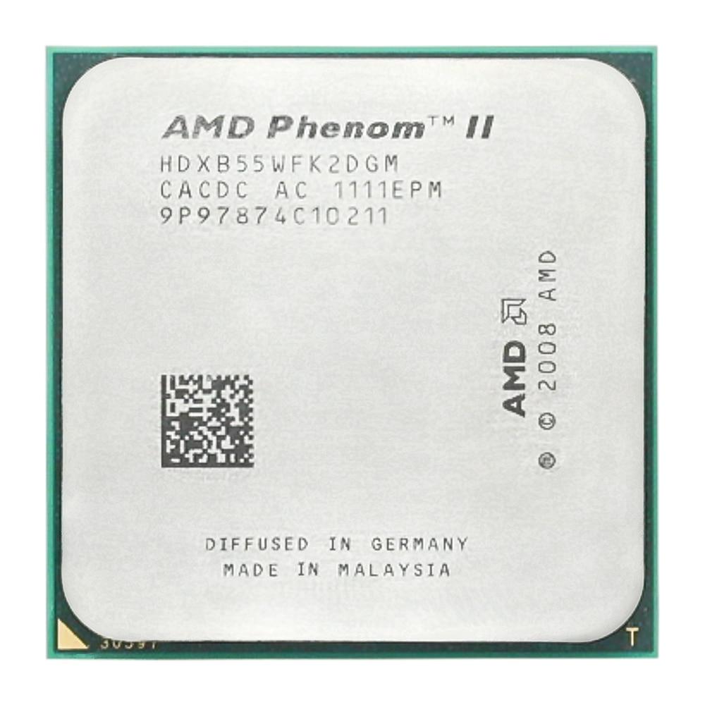 AMD Phenom II X2 B55 CPU Processor Dual-Core 3.0Ghz/ 6M /80W / 2000GHz Socket Am3 Am2+