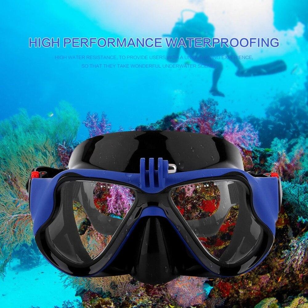 Heißer Professionelle Unterwasser Kamera Tauchen Maske Scuba Schnorchel Schwimmen Brille für GoPro Xiaomi SJCAM Sport Kamera DropShipping