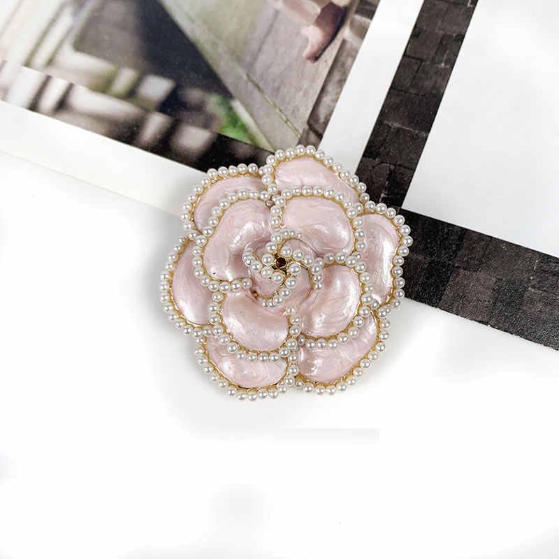 Merek Mewah Bunga Mutiara Pin Bros Bunga Bros Bros Perhiasan Gaya untuk Wanita