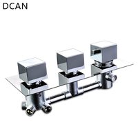 DCAN Bathroom Thermostatic Mixer Valve Brass Chrome Finish Shower Faucet Mixer Valve 3 4 Ways Faucet