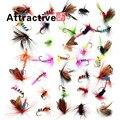 36 unids Promoción Estilo Mariposa Insectos Ganchos Señuelo de la pesca Con Mosca Trucha Salmón Moscas Secas Sola Mosca Señuelos de Pesca Aparejos De Pesca