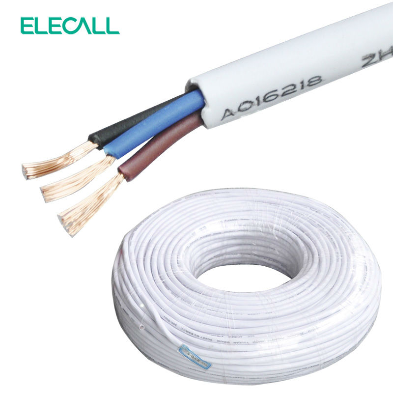ELECALL Signal Line RVV3 * 0.5*1m Electrical Wires/ Cable / Copper Core Three-Core Sheathed Cable Cord 1m three core xlpe insulated steel tape armored pvc pe sheathed pure copper power cable rated voltage 0 6 1kv yjv22 3 150mm2